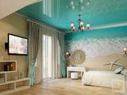 Натяжной потолок цветной